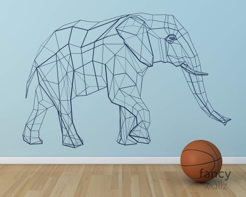 Geometric Elephant Wall Decal-Home Decor-Kids Room