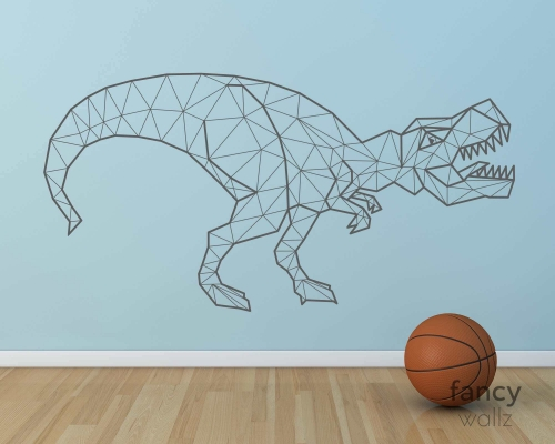 Geometric Dinosaur Wall Decal-Abstract T-Rex Dino Decal-Triangle Animal Jurassic Park Wall Sticker Vinyl Home Decor-Kids Room