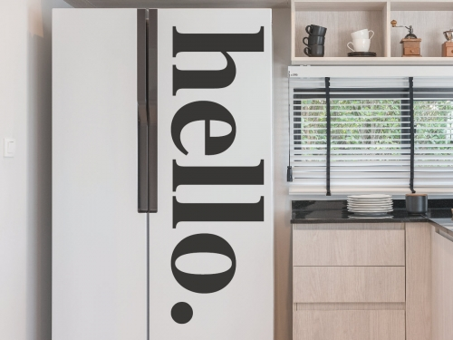 Hello Door Sign Wall Decal Hello Door Stickers